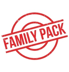 Family Pack rubber stamp vector