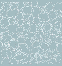 floral line art seamless pattern vector image