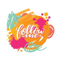 Follow me card vector
