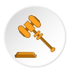 Gavel icon flat style vector