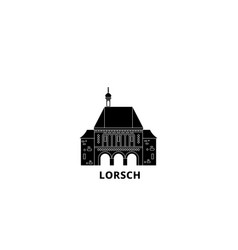 Germany lorsch flat travel skyline set germany vector