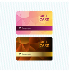 gift cards template with abstract geometric vector image