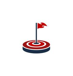 golf target logo icon design vector image