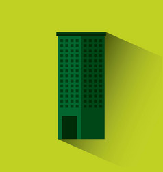 Green building isolated icon vector