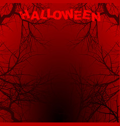 Halloween red background copy space with text vector