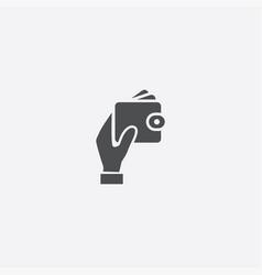 Hand wallet icon vector