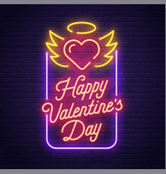Happy valentines day love day banner logo vector