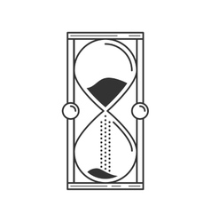 Hourglass or sand timer icon suitable for info vector image