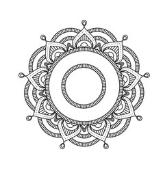 Indian mandala - flower style pattern vector