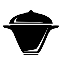 Iron saucepan icon simple style vector