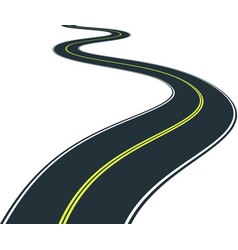 Isolated road curves - clip art vector