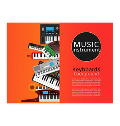 Keyboard musical instruments shop with classical vector