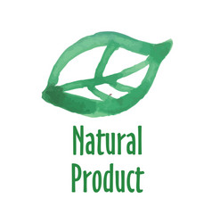 logo of natural product vector image