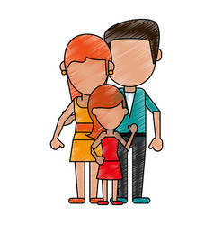 lovely family cartoon vector image
