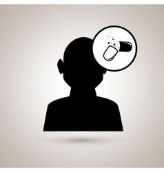 medical flat icon design vector image