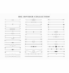Mega set floral dividers frames collection vector