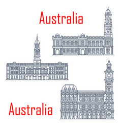 melbourne and adelaide general post offices vector image