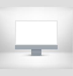 Modern desktop personal computer with blank screen vector