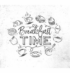 monogram breakfast time vector image