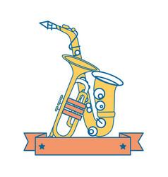 Music instruments design vector