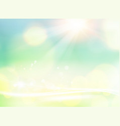 Nature color background spring eco background vector