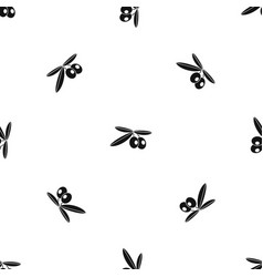 olives pattern seamless black vector image