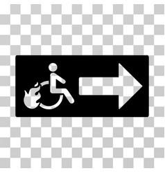 Patient exit icon vector