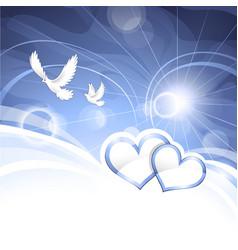 Peace hearts vector