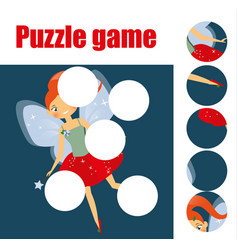 puzzle for toddlers matching children educational vector image