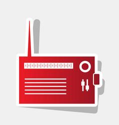Radio sign new year reddish vector