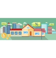 Real Estate House for Sale Installment Sale vector