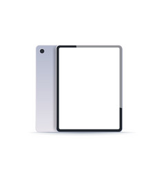 realistic tablet pc mockup gadget with empty blank vector image