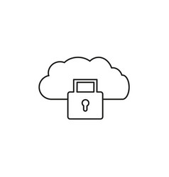 secured cloud icon vector image