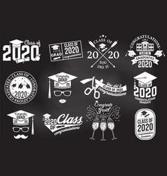 set class 2020 badges vector image