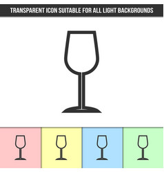 simple outline transparent wine glass icon vector image