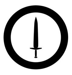 simple sword icon black color in circle vector image