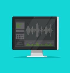Sound or audio recorder or editor software vector