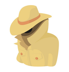 Spy icon cartoon style vector
