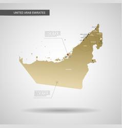 stylized united arab emirates map vector image
