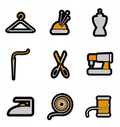 Tailoring object icon vector