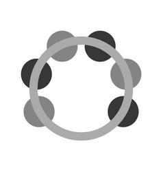 tambourine musical instrument icon vector image