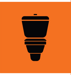 Toilet bowl icon vector