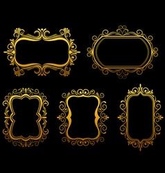 vintage frames and borders set vector image