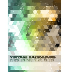 Vintage RetroDesign flyer template Abstract vector image