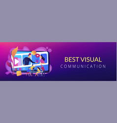Visual storytelling concept banner header vector