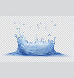 Water crown with drops splash water vector