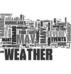 What to do when severe weather strikes text word vector