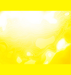 yellow wavy organic shapes background vector image