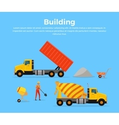 Building Concept Banner Flat Design vector image