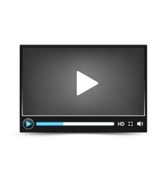 Dark skin video player interface vector image